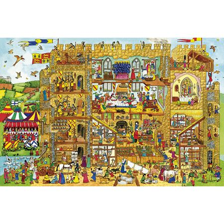 Picture of Castle Wooden Floor Puzzle 48 piece