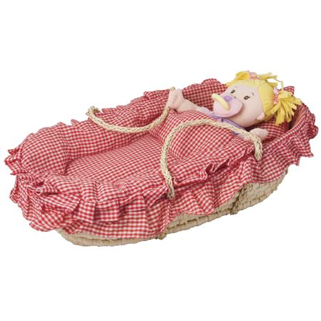 Picture of Dolls Carry Cot Moses Basket and Bedding