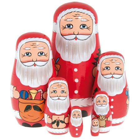 Picture of Father Christmas Nesting Dolls