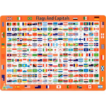 Picture of Flags & Capitals Placemat