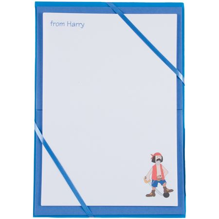 Picture of Named Notepaper - Pirate (Blue)