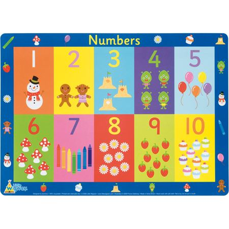 Picture of Numbers Placemat