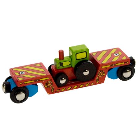 Picture of Tractor Low Loader Carriage (Bigjigs Rail BJT413)
