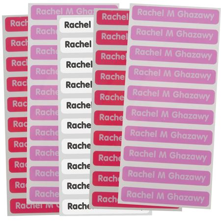 Picture of Adhesive Name Labels - Pastel Colour Set