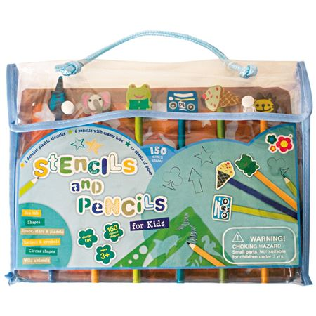 Picture of Stencils & Pencils Design Set - Blue
