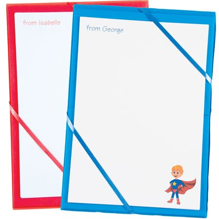 Picture of Named Notepaper - Super Hero
