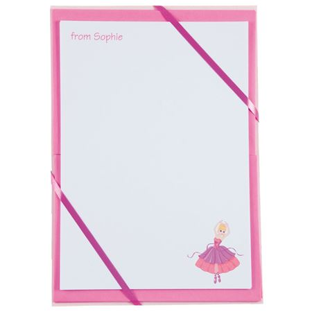 Picture of Named Notepaper - Princess Ballerina