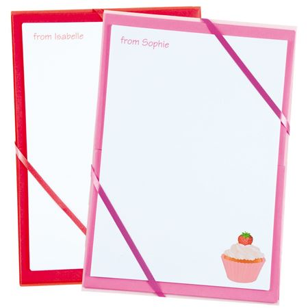 Picture of Named Notepaper - Cupcake