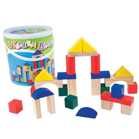 Picture of Drum of Building Blocks (40 pieces)