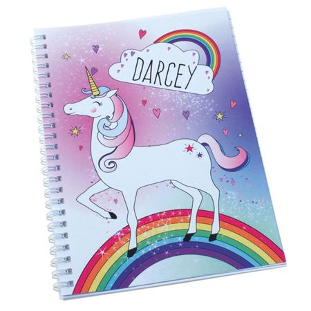 Picture of Personalised Unicorn A5 Notebook
