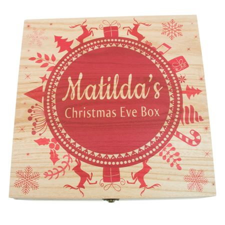 Picture of Personalised Christmas Eve Box - Snowflake Wreath