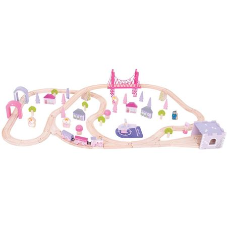Picture of Fairy Town Train Set (75 piece) (Bigjigs Rail BJT023)