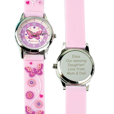 Picture of Personalised Pink Butterfly Watch