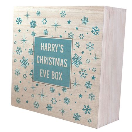 Picture of Ice Blue Snowflake Christmas Eve Box