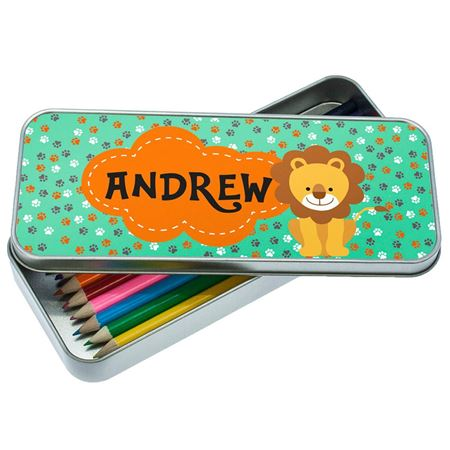 Picture of Happy Lion Pencil Tin