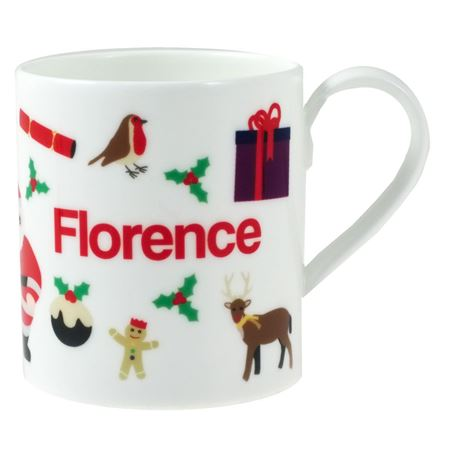 Picture of Personalised China Mug - Christmas