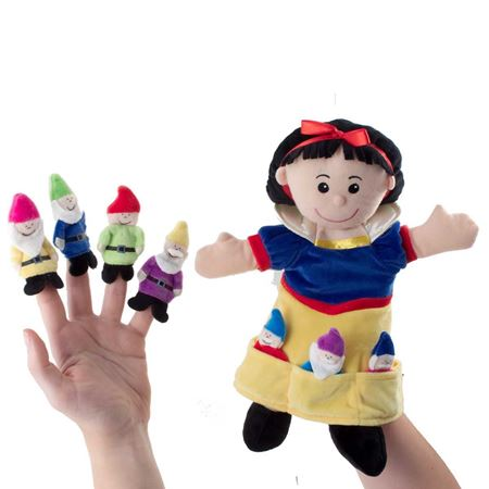 Picture of Snow White & Seven Dwarves Puppet Set