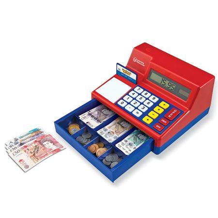 Picture of Cash Register and Calculator