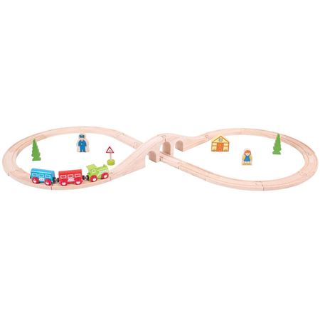 Picture of Wooden Figure of Eight Train Set