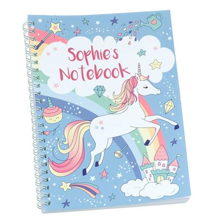 Picture of Rainbow Unicorn Personalised Notebook