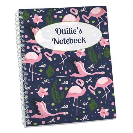 Picture of Flamingos Personalised Notebook