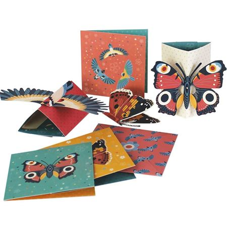 Picture of Bird & Butterfly Pop Up cards