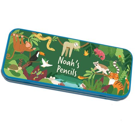 Picture of Personalised Pencil Tin - Jungle