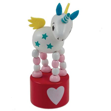 Picture of Wooden Magic Unicorn Press-Up